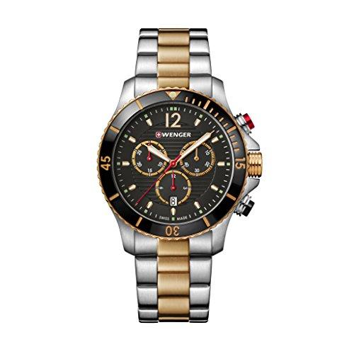 WENGER Reloj Analógico para Hombre de Cuarzo con Correa en Acero Inoxidable 01.0643.113