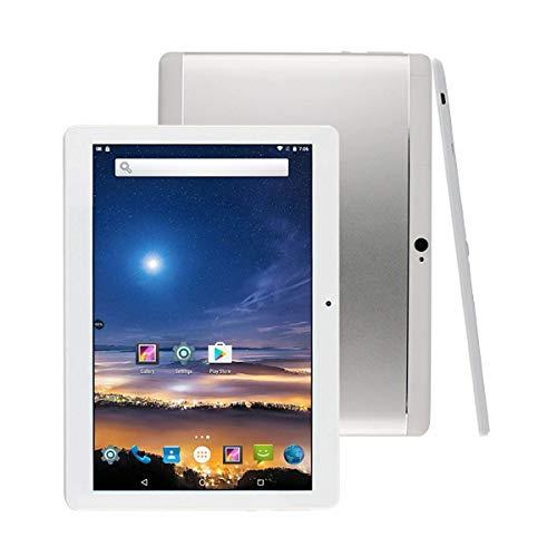 10 Zoll Android Tablet 8 Core CPU, 2GB RAM, 32GB interner Speicher, WiFi, Kamera, GPS,Dual-SIM, ohne Netzsperre, 3G Tablet-Telefon (Silber),