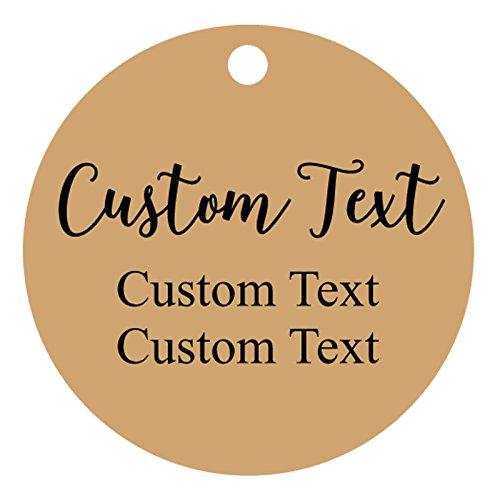 100 Stück Gewohnheit jeder Text-Tags runde Form personalisierte Geschenkanhänger Hochzeitsbevorzugungs hängen gemacht