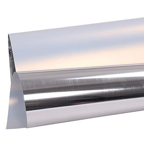 HOHOFILM - Película de corte de vinilo metálica con efecto espejo, lámina adhesiva para manualidades, tela para camiseta