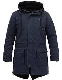 Gilet Hommes Tokyo Laundry Manteau Parka À Capuche Doublé Sherpa Lourd Queue-de-pie Hiver