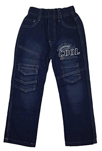 Bequeme Jeans mit rundum Gummizug in blau, Gr. 110/116, J143.6e