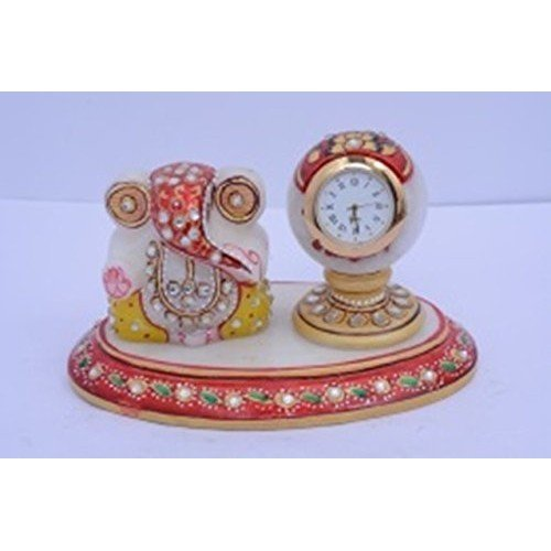 Marble Ganesh & Paper Weight Clock