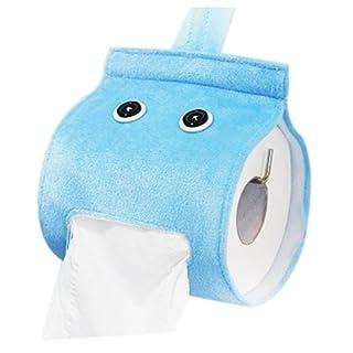 Plush Cloth Tissue Box - TOOGOO(R) Bathroom Cover Roll Box Plush Cloth Tissue Box Holder Toilet Paper bathroom/office/car/restaurant Hanging paper towel tube£¨light blue£©