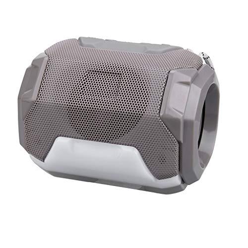 Tragbar Bluetooth Lautsprecher, Bluetooth Tragbarer LED Lautsprecher Stereo Boombox Musikboxen Speaker mit Reinem Bass für Indoor Outdoor Android iPhone Tablets, Laptop, PC (Grau) Reine Bluetooth