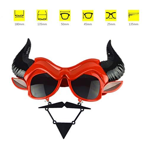 Zoylink Halloween Brille Party Brillen Kuh Horn Form Kostüm Brille