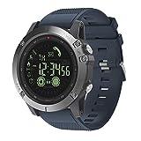 Montres Smart bracelet, VIBE3 imperm¨¦able ¨¤ l'eau podom¨¨tre cam¨¦ra Bluetooth montre intelligente pour Android iOS-bleu