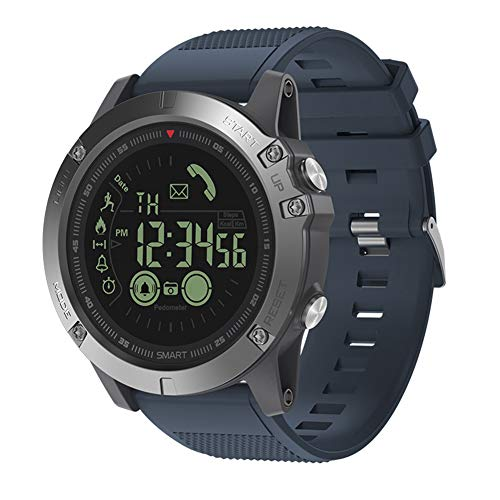 Montres Smart bracelet, VIBE3 imperm¨¦able ¨¤ l'eau podom¨¨tre cam¨¦ra Bluetooth montre intelligente pour Android iOS-bleu
