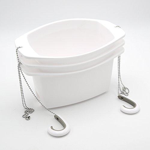 Umbra 023922-660 Shower Caddy Duschablage Oasis weiß Kunststoff (Dusche Caddy Weiß Kunststoff)