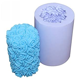 Allforhome Rose Silicone Candle molds Romantique candle mould Craft Moulds DIY