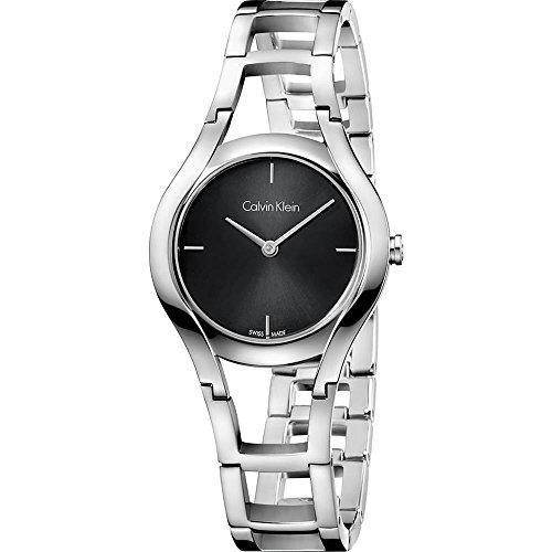 Calvin Klein Damen Analog Quarz Uhr mit Edelstahl Armband K6R23121