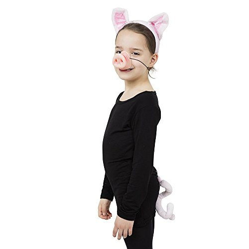 Pig Set (Ears, Tail + Nose) (Instant Disguises) - Unisex - One Size