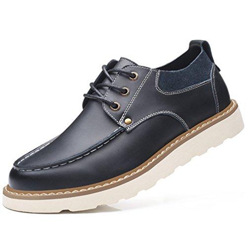 XIGUAFR Homme Chaussure Basse en Cuir Fond Epais Chaussures Outdoor Britannique Résistant à L'Usure