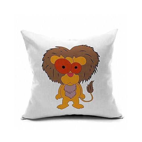 brockoutletstore taies d'oreiller Cartoon orange roi lion 18 x 18 (cm)