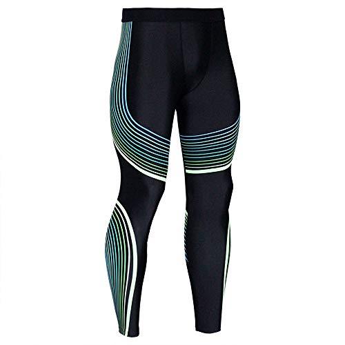 FRAUIT Fitness Hose Herren Männer Leggings Sport Gym Hose Running Yoga Sporthose Slim Fit Sweatpants Streifen Sweatpants…