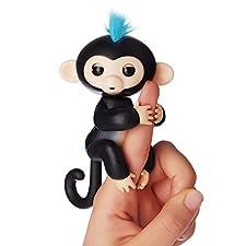 Fingerlings ouistiti noir bébé singe interactif de 12cm