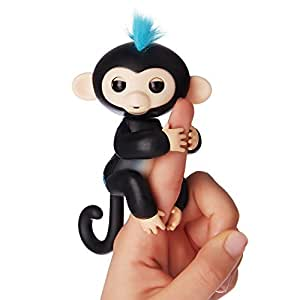 WowWee Fingerlings Pet Baby Monkey, Black