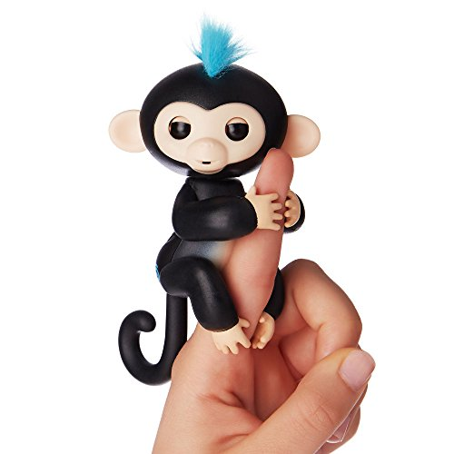 Fingerlings ouistiti noir bébé singe interactif de 12cm
