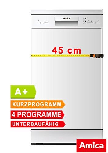 Preisvergleich Produktbild Geschirrspüler 45cm unterbaufähig Spülmaschine Weiß A+ 9 Maßgedecke