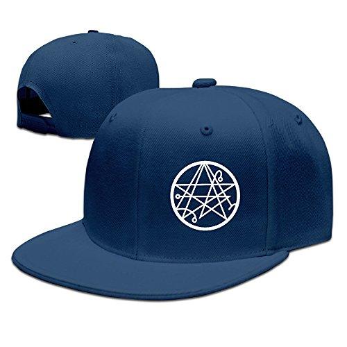 Gameser Necronomicon Logo Casquette de baseball en plein air randonnée Chapeau Plat Snapback, Homme, bleu marine