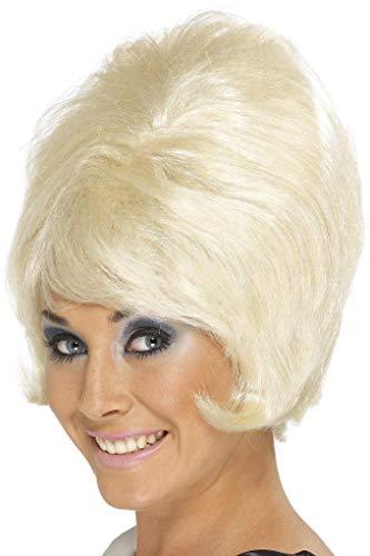 Smiffys Damen 60er Jahre Kurze Bienenstock Perücke mit Pony, Blond, One Size, 42273
