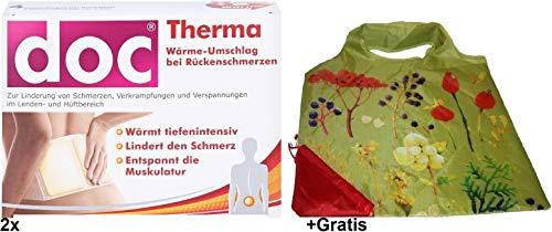 2x Doc Therma für 4 Anwendungen +Gratis Einkaufstasche. Lindert Rückenschmerzen