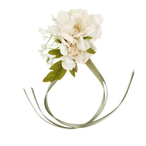Luoem wedding girl cinturino fiore sposa damigelle silk corsetto con nastro feste mano decorazione