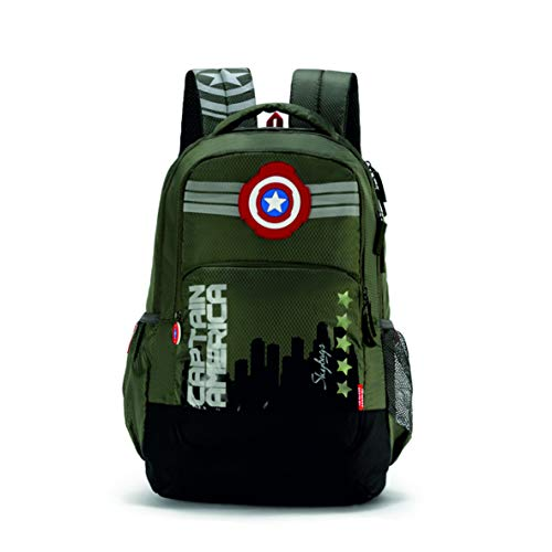 Skybags SB Marvel 07 31 Ltrs Olive Casual Backpack (SBMRV07EOLV)