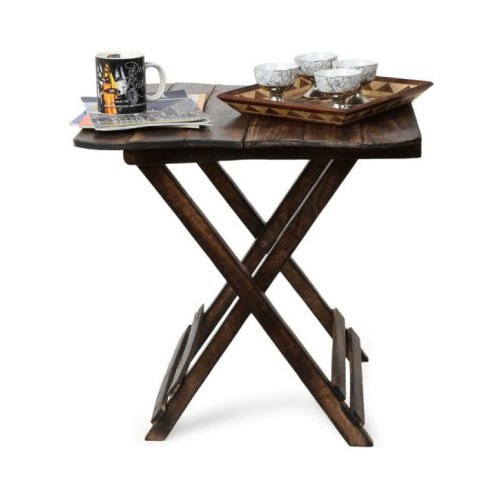 Batra Wooden (Handicraft) Beautiful Design Folding Table For Living Room...
