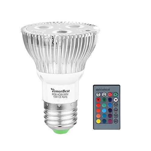 0 E27 Bunte LED Dimmbar Birne Farbwechsel Lampe Glühbirne Licht Scheinwerfer 16 Farben Änderung mit Fernsteuerungs Blitz Strobe Funktion AC 85-265V ()