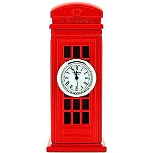 Horloge miniature pour collectionneurs cabine t l phonique for Maison classique emporium