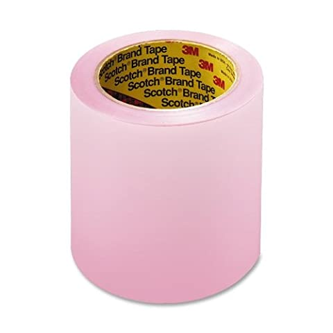 Scotch 3M 8210-4 Labelgard Shipping Label System, 2.5 Mil Pink Tint Film Tape, 4 x72 Yd. Roll