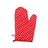 ZT TRADE Anti Scald Gloves Baking Gloves Scald-proof Gloves Oven Gloves High Temperature Protection Red