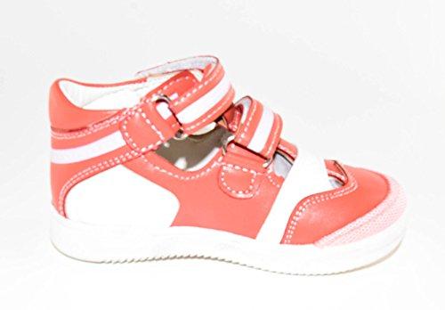 TMY 1217 protection fermée sandales pour fille rouge blanc tailles disponibles Multicolore - Rot/ Weiß