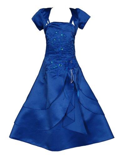 Cinda Mädchen Brautjungfer / Heilige Kommunion Kleid Blau 158-164