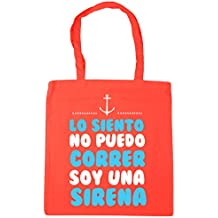 HippoWarehouse Lo Siento no Puedo Correr soy una sirena Bolso de Playa Bolsa Compra Con Asas