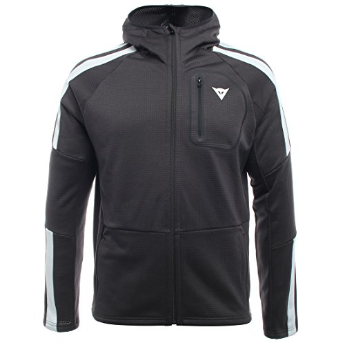 Dainese Herren HP2 MID Hooded Full Zip Man Layer, Stretch-Limo/Vapor-Blau, M Full Zip Hooded Thermal