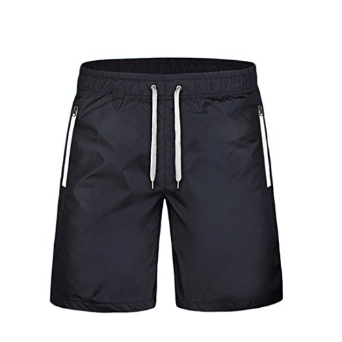Men's Casual Solid Knee Length Shorts white