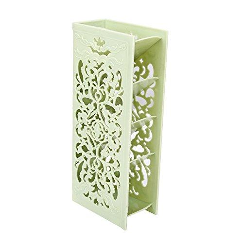 OUNONA Hohl Tisch Organizer geschnitzt Schreibtisch Ablage Container Home Office Schule Supplies (grün) (Geschnitzte Schreibtisch)
