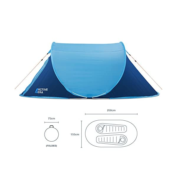 Active Era® Large 2 Person Pop Up Tent - Water-Resistant, Ventilated and Durable 2