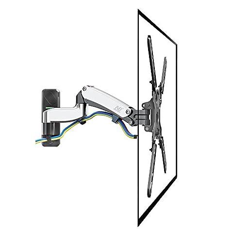 NB F500 NEW - support mural design professionnel avec ressort à gaz pour grands TV de 127-152 cm, de 16 à 23 kg. VESA 200-400.