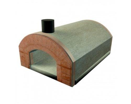 Forno a legna refrattario prefabbricato esterno 5 pizze 30 cm arco bocca Sorrento