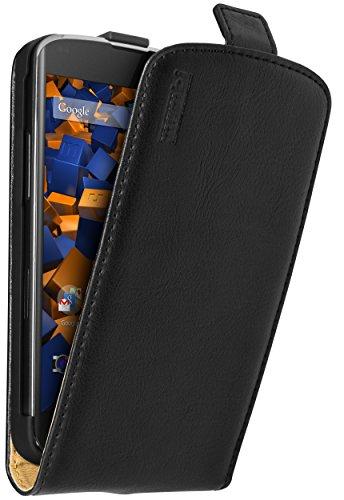 mumbi PREMIUM Leder Flip Case für Google Nexus 4 Tasche