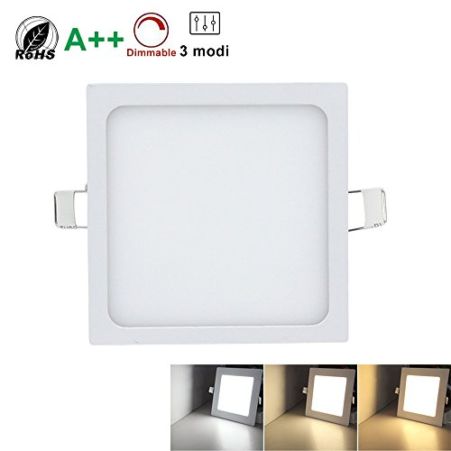 Downlight LED cuadrado regulable 24w