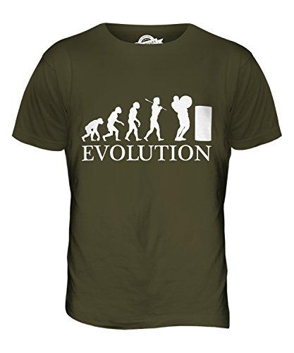 CandyMix Atlas Steine Stones Of Strength Evolution Des Menschen Herren T Shirt Khaki Grün