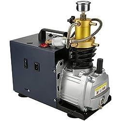 Sorand Pompe à Haute Pression de 220V 40Mpa, Pompe de compresseur d'air électrique refroidie à l'eau de 4500psi 2800 TR/Min 1800W, système de séparation des eaux usées intégré