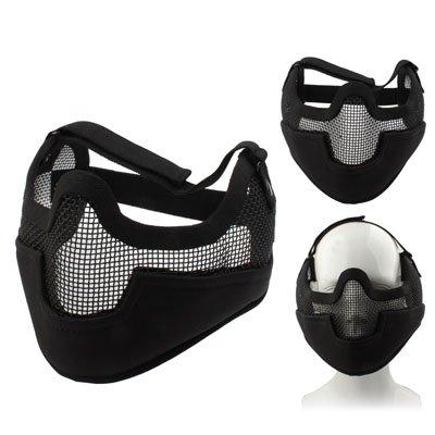 otektor - Halbgesichts-Maske schützt Kiefer & Ohren für Paintball / Gotcha / Airsoft / Totenkopf / Spec Ops Mask / Halloween / Fasching / schwarz (Schädel-kiefer-maske)
