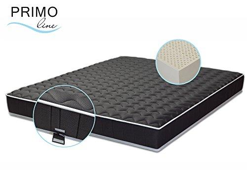Primo Line Latexmatratze Black Label 7 Zonen Matratze 100x200 H3 Höhe 20 cm RG 70 (bis 125kg) Bezug & Latex Kern ÖKO TEX