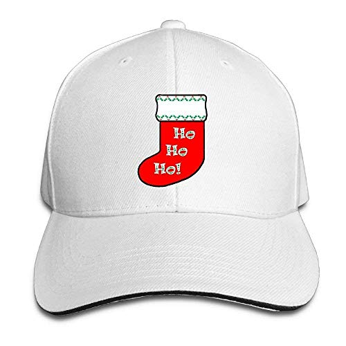 Men's Women's Christmas Stocking Cotton Adjustable Peaked Baseball Cap Adult Sandwich Hat
