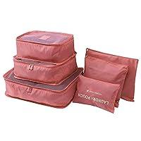 6pcs Travel Set Clothes Laundry Secret Storage Bag Packing Luggage Organizer Bag